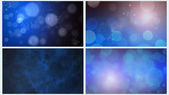 Four Blue Bokeh Backgrounds — Stock Photo