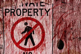 Private Property Horror — Stock Photo