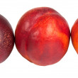 Three nectarine — Stock Photo