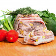 Terrine on a wooden board — Stock Photo