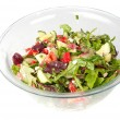 Vegetable salad in a large glass bowl — Stock Photo