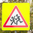 Stock Photo: Road sign children