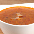 Bowl of hot tomato soup — Stock Photo