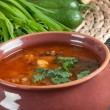 Stock Photo: Besoup and fresh ingredients for cooking