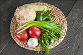 Fresh ingredients for cooking on the table — Stock Photo