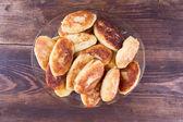 Potato patties in a glass dish — Stock Photo