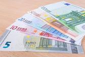 Euro banknotes closeup — Stock Photo