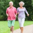 Stock Photo: Active seniors