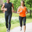 Sport couple running — Stock Photo #26933295