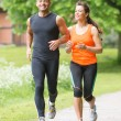 Sport couple running — Stock Photo #26933313