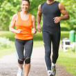 Sport couple running — Stock Photo