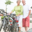Stock Photo: Active senior couple