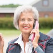 Senior woman at phone — Stock Photo #27692329