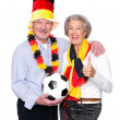 German senior sport fans — Stock Photo