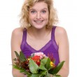 Woman with flowers — Stock Photo #9300927