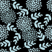 Einfache schwarz blumenmuster — Stockvektor