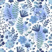 Vintage květinový vzor s akvarel zázemí — Stock fotografie