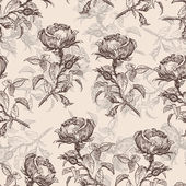 Vintage pattern with roses — Stock Photo