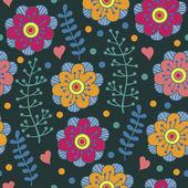 Bright floral pattern — Cтоковый вектор