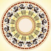 Circulaire patroon met afrikaanse etnische versieringen — Stockvector