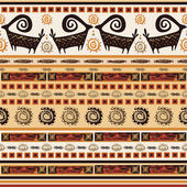 Pattern with African ornaments — Vecteur