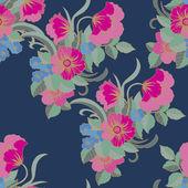ビンテージ スタイルの花柄のパターン — ストックベクタ
