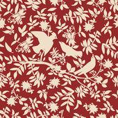 Openwork pattern with birds — Stock Vector