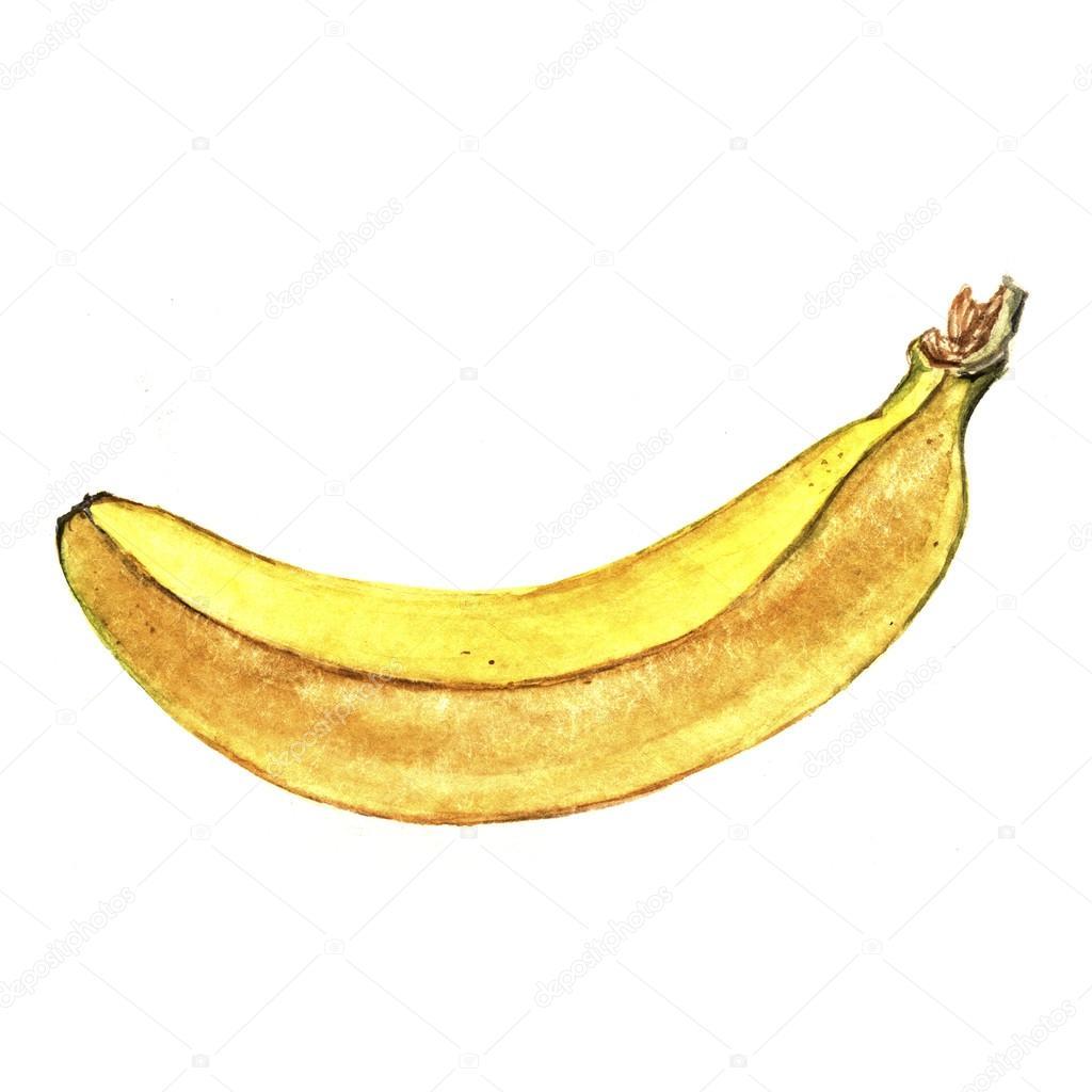 Банан нарисовать ребенку фото