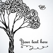 Ilustração de árvore estilizada — Vetorial Stock