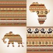 African ornamental motifs — Stock Vector