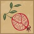 Stock Vector: Pomegranate stylization vector