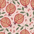 Pattern with pomegranates — Stockvektor #25847965