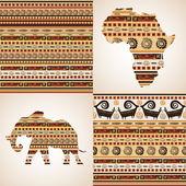 Motifs ornementaux africaines — Vecteur