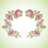 用鲜花复古框架 — 图库矢量图片