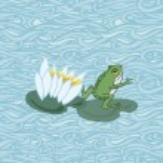 Cute frog. vector illustration — Stock Vector