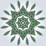 Circular pattern of leaves — Stock Vector