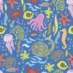 ładny wzór z podwodnego świata — Wektor stockowy
