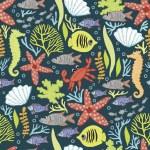 ozdobny wzór z podwodnego świata — Wektor stockowy