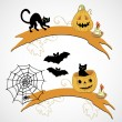 Stock Vector: Banners for Halloween