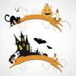 Hallowe'en banners — Stock Vector