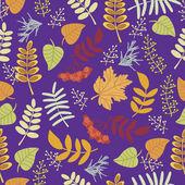 Patrón decorativo de otoño — Vector de stock