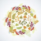 Autumn leaves. Decorative composition — Stock Vector