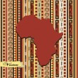 Stock Vector: Decorative card with image of continent Africa
