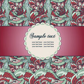 Vintage decorative floral background — Stockvektor