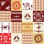Decorative set of patterns — Stock Vector