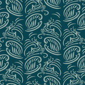 Pattern with stylized deer — Vettoriale Stock