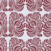 Red decorative floral pattern. — Stock Vector