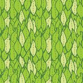 Pattern with green leaves. — Stock Vector