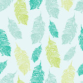 Vintage pattern with colored feathers. — Stockvektor
