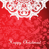 Christmas background with openwork motifs — Stock Vector
